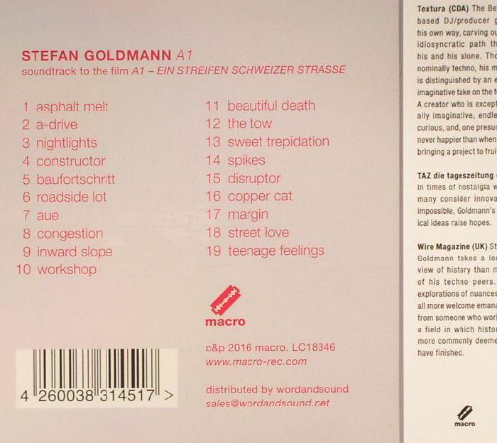 Stefan GOLDMANN A1 (Soundtrack) vinyl at Juno Records