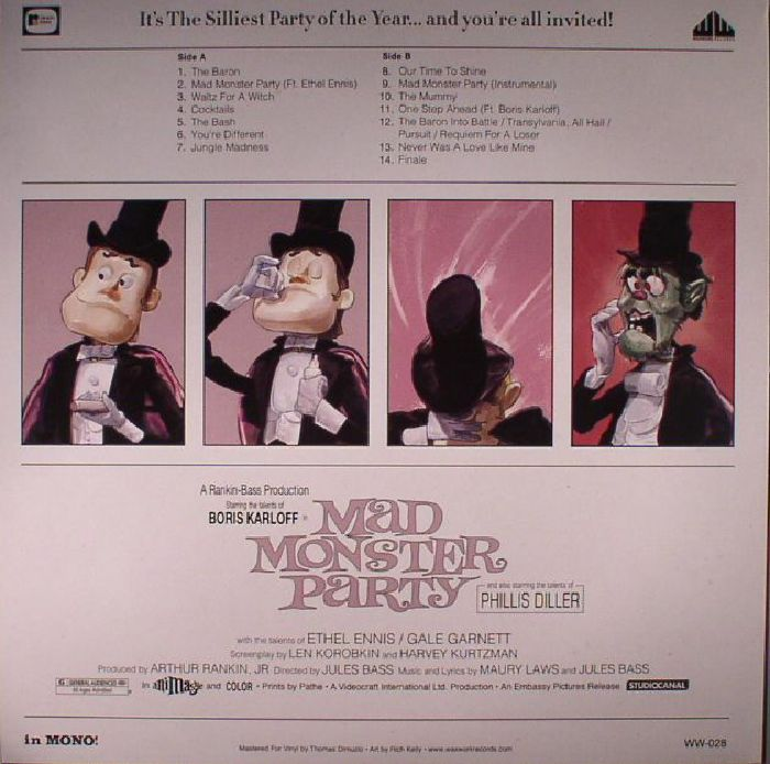 Maury LAWS/JULES BASS Mad Monster Party (Soundtrack) vinyl at Juno