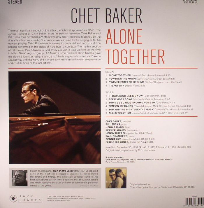 Chet BAKER Alone Together (reissue) vinyl at Juno Records