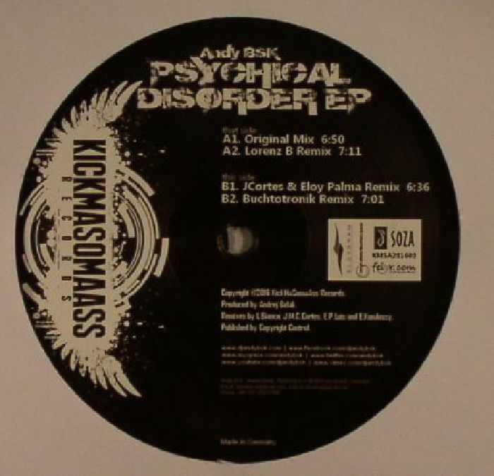 BSK, Andy - Psychical Disorder EP