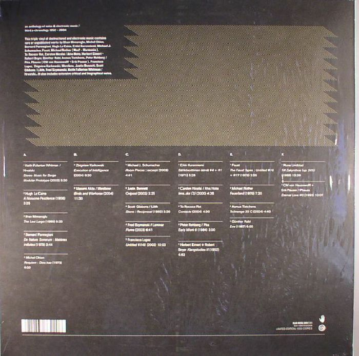 VARIOUS - An Anthology Of Noise & Electronic Music/Third A Chronology 1952 - 2004: Volume 3