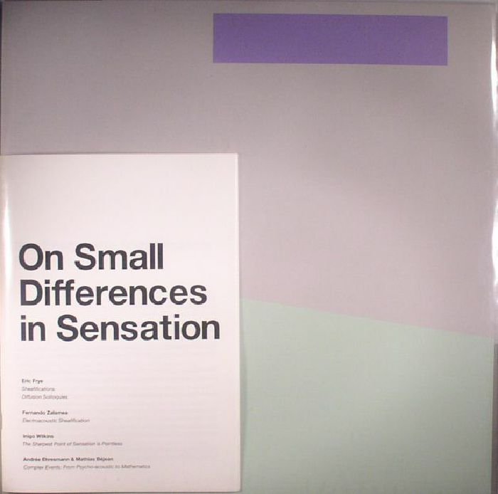 FRYE, Eric - On Small Differences In Sensation