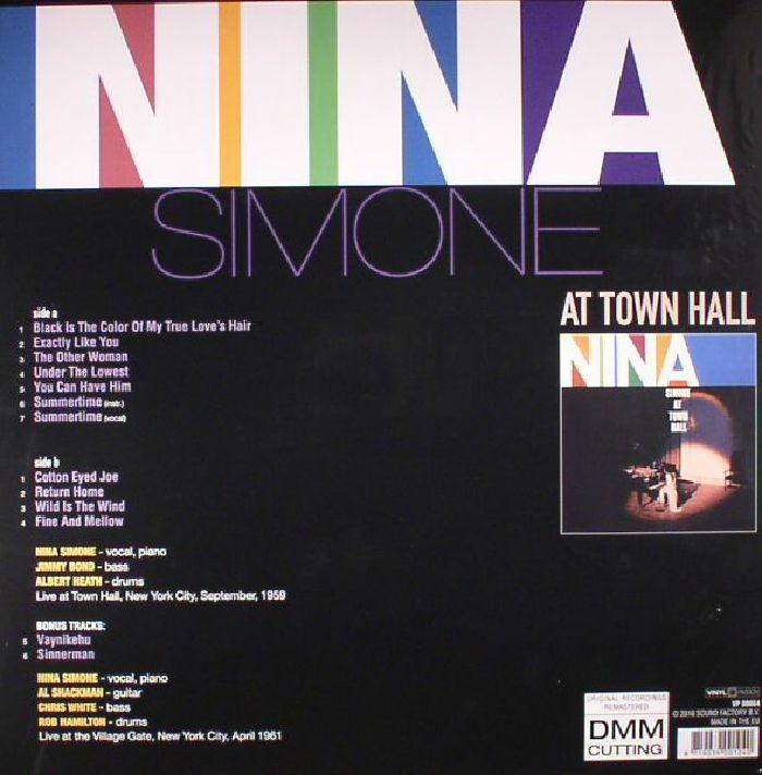 SIMONE, Nina - At Town Hall (reissue)