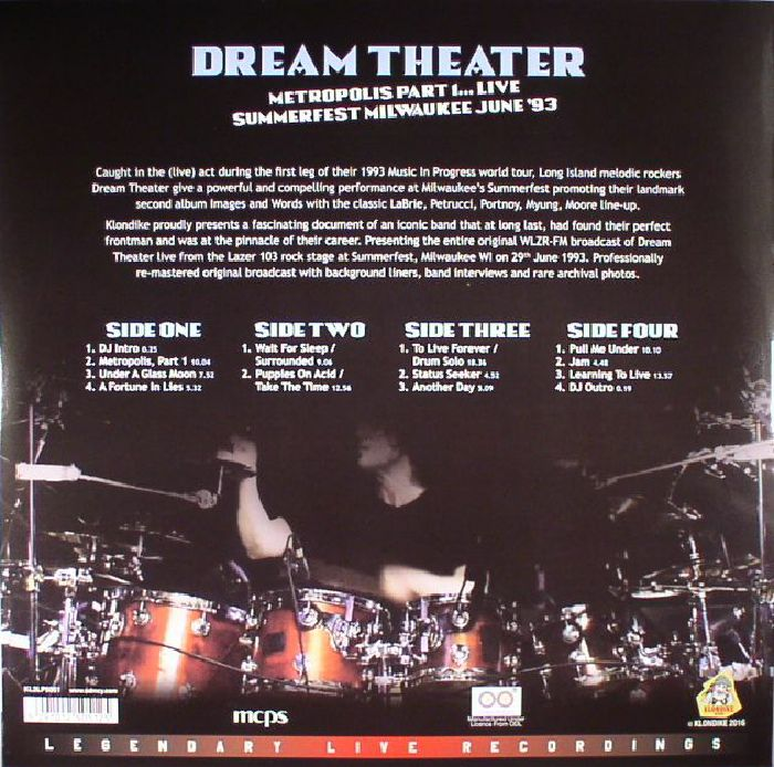 DREAM THEATER - Metropolis Part 1 Live: Summerfest Milwaukee June '93