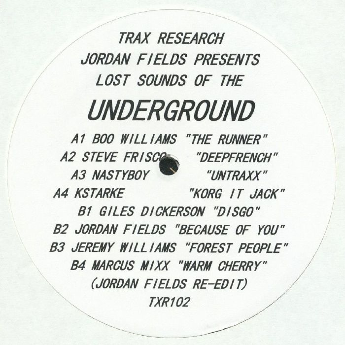 FIELDS, Jordan/VARIOUS - Lost Sounds Of The Underground