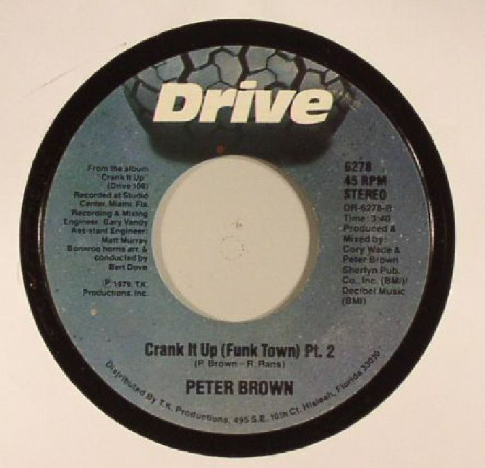 BROWN, Peter - Crank It Up (Funk Town) (reissue)