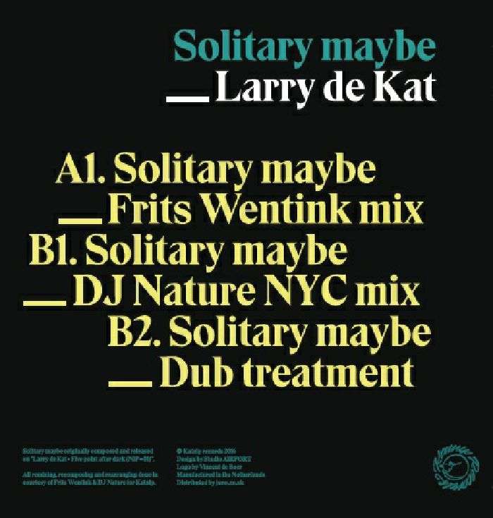 LARRY DE KAT - Solitary Maybe (including DJ Nature remix)