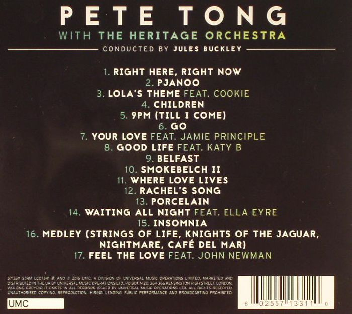 Pete tong the heritage orchestra jules buckley classic for Classic house vinyl