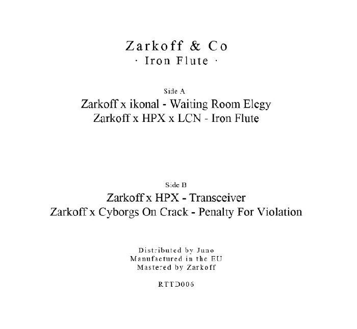 ZARKOFF & CO - Iron Flute