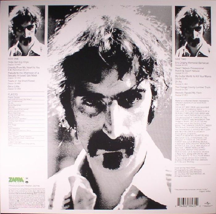 ZAPPA, Frank/THE MOTHERS OF INVENTION - Weasels Ripped My Flesh (reissue)