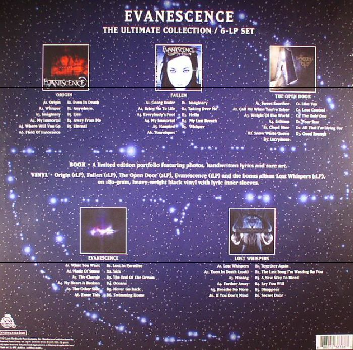 Evanescence The Ultimate Collection Vinyl At Juno Records