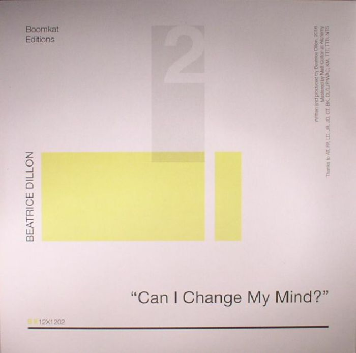DILLON, Beatrice - Can I Change My Mind?