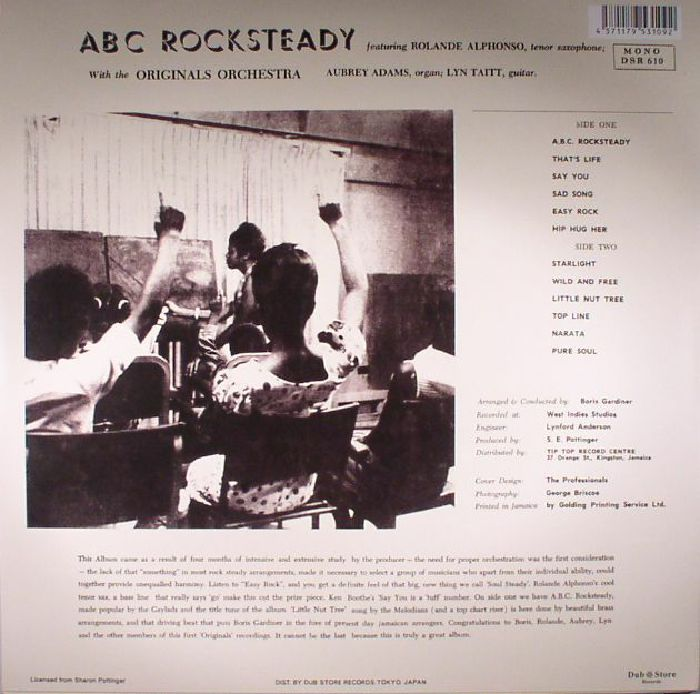 ALPHONSO, Roland/THE ORIGINALS ORCHESTRA - ABC Rocksteady (mono)