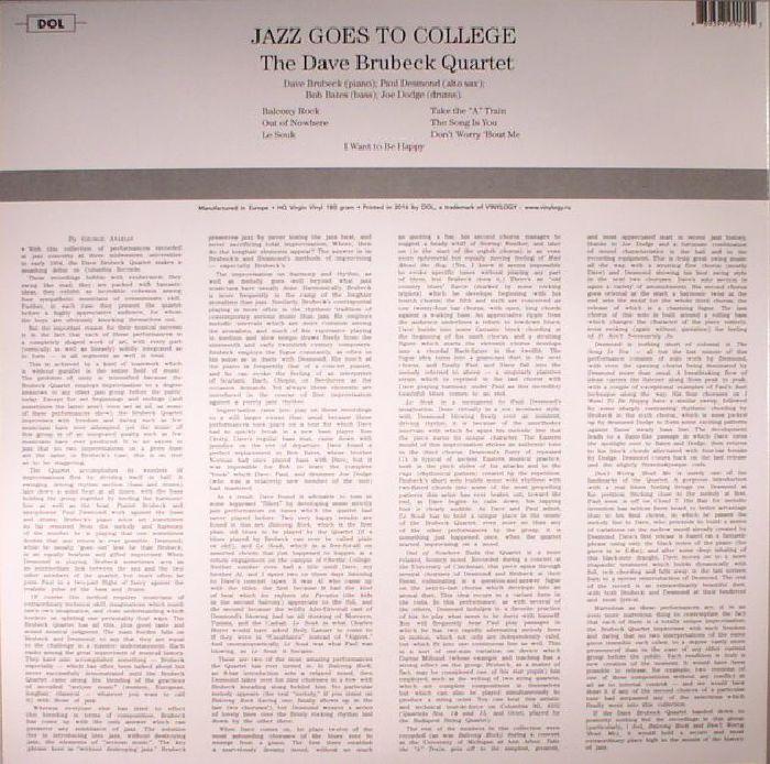 DAVE BRUBECK QUARTET, The - Jazz Goes To College (reissue)