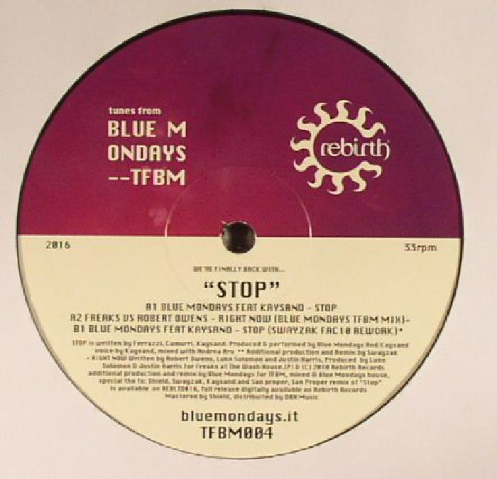BLUE MONDAYS/FREAKS/ROBERT OWENS - Stop