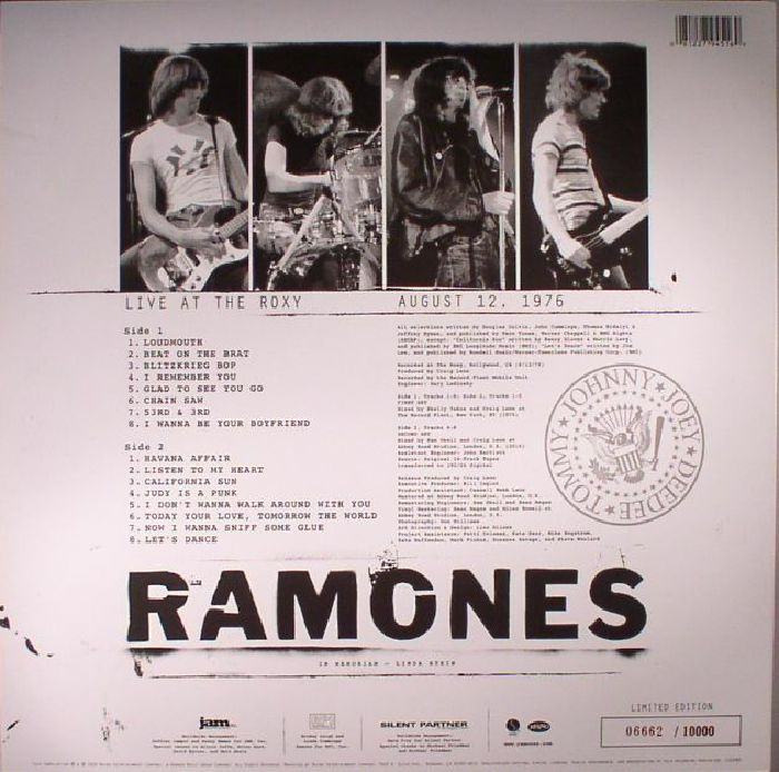 RAMONES - Live At The Roxy August 12 1976