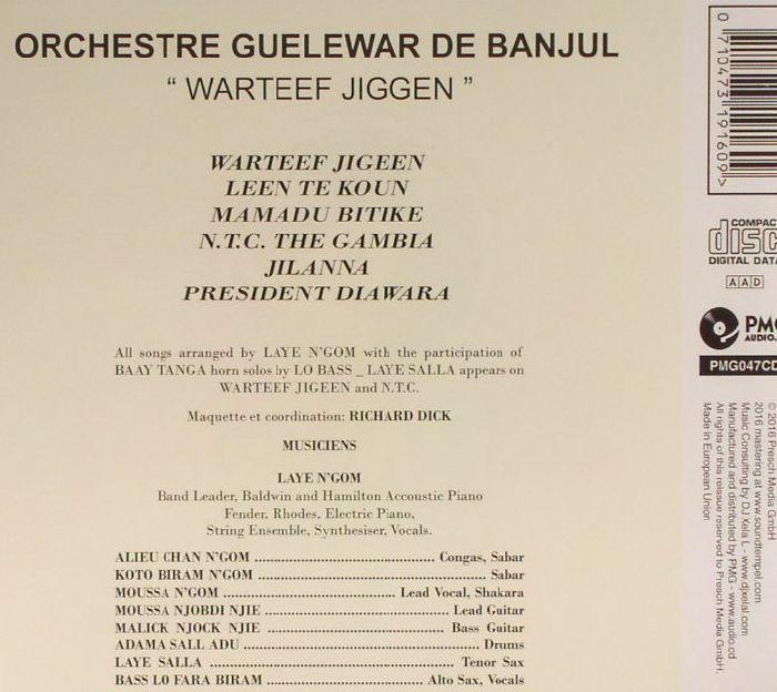 GUELEWAR BAND OF BANJUL - Warteef Jiggen (reissue)