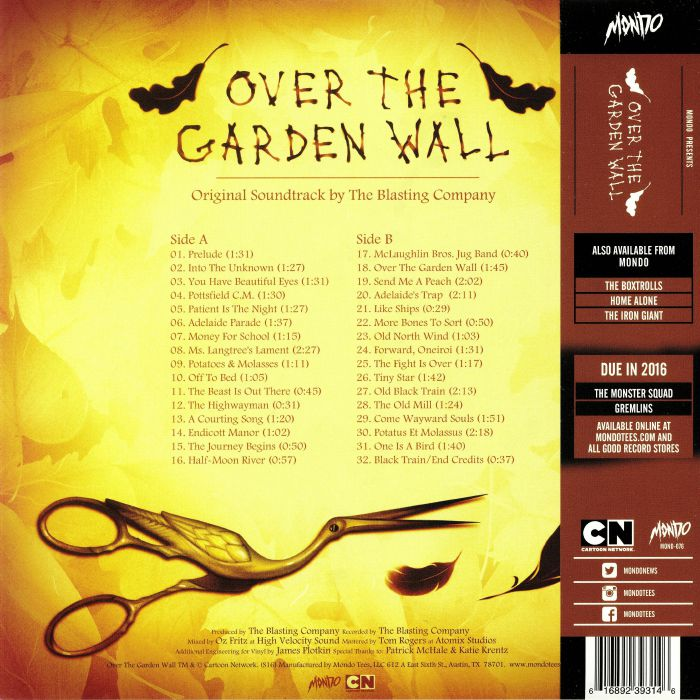 The Blasting Company Over The Garden Wall Soundtrack Vinyl At Juno Records