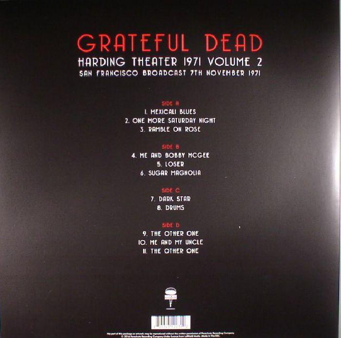 GRATEFUL DEAD - Harding Theater 1971 Volume 2: San Francisco Broadcast 7th November 1971