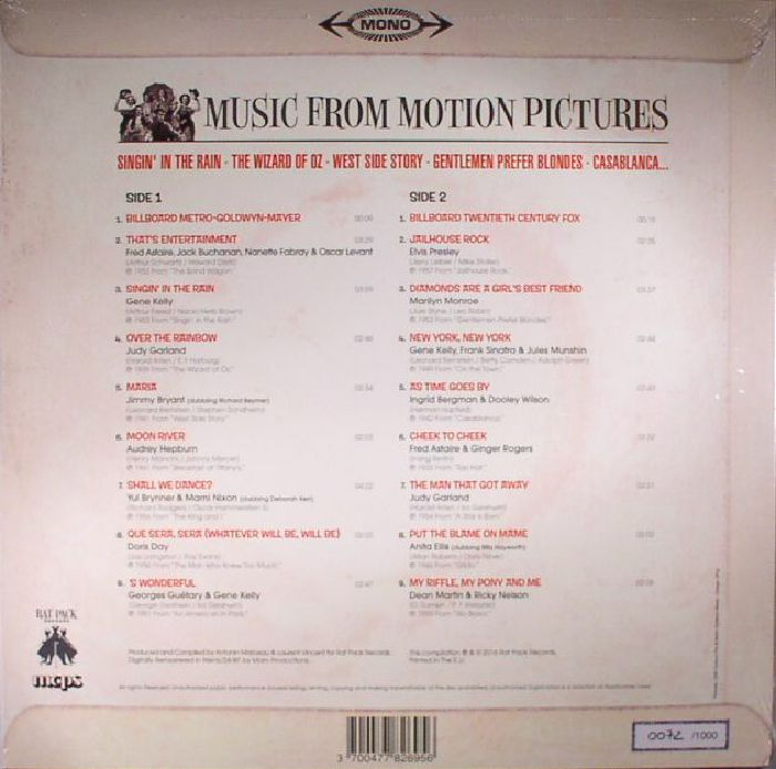 VARIOUS - Music From Motion Pictures (mono)