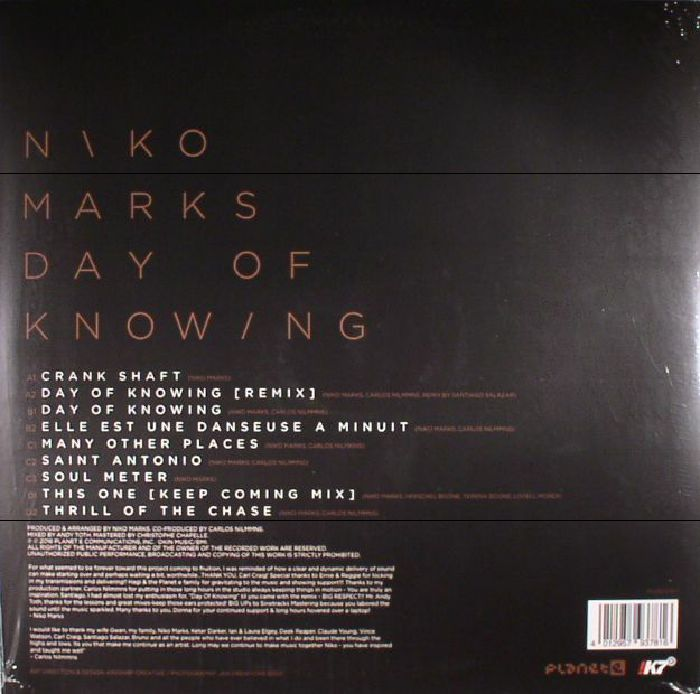 MARKS, Niko - Day Of Knowing