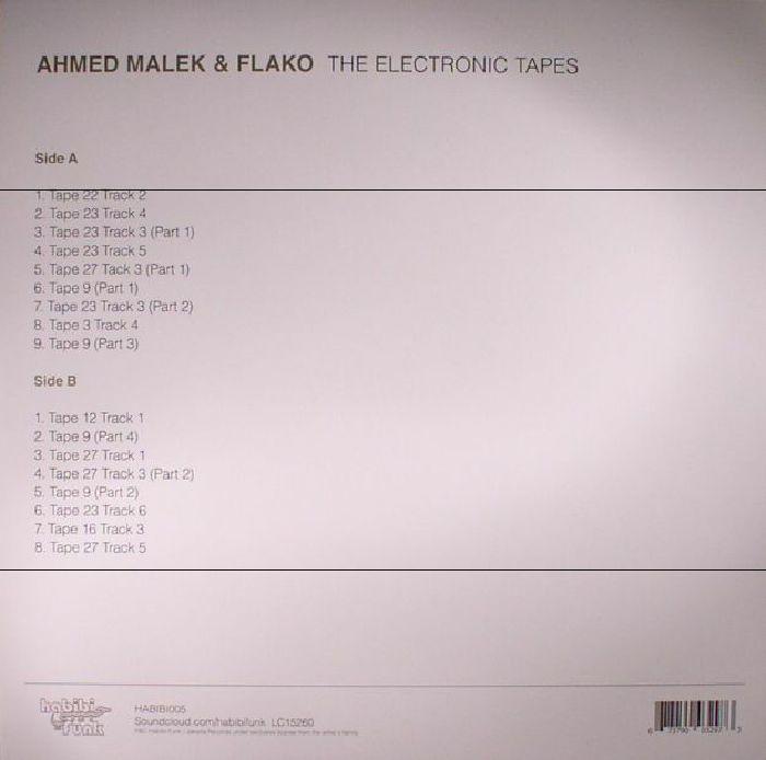 MALEK, Ahmed/FLAKO - The Electronic Tapes
