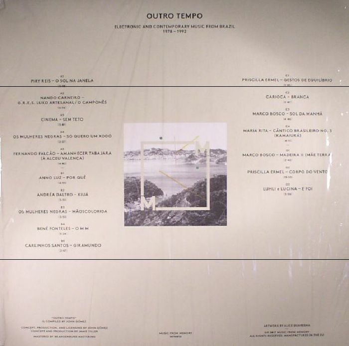VARIOUS - Outro Tempo: Electronic & Contemporary Music From Brazil 1978-1992 Compiled By John Gomez