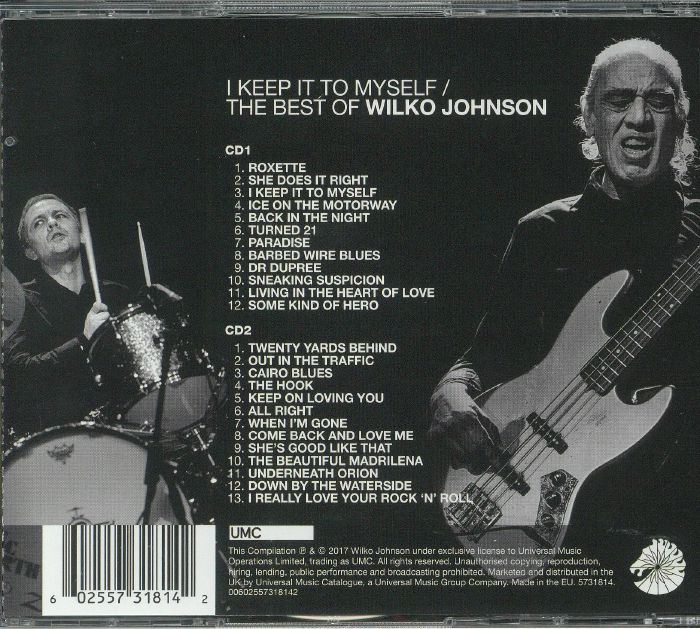 JOHNSON, Wilko - I Keep It To Myself: The Best Of Wilko Johnson