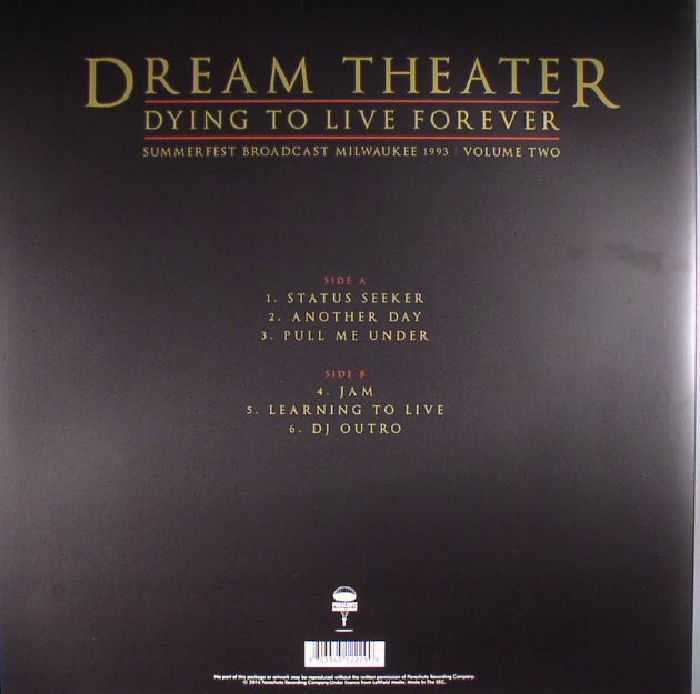 DREAM THEATER - Dying To Live Forever: Summerfest Broadcast Milwaukee 1993  Volume Two
