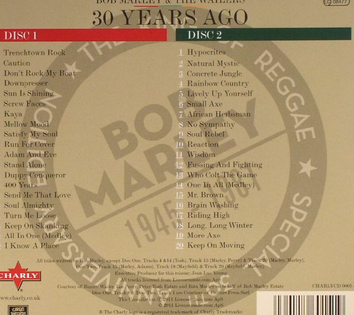 MARLEY, Bob & THE WAILERS - 30 Years Ago