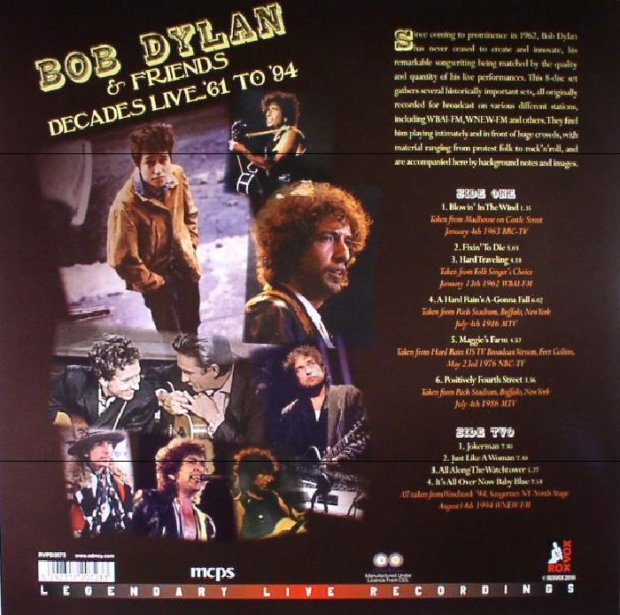 DYLAN, Bob & FRIENDS - Decades Live 61-94