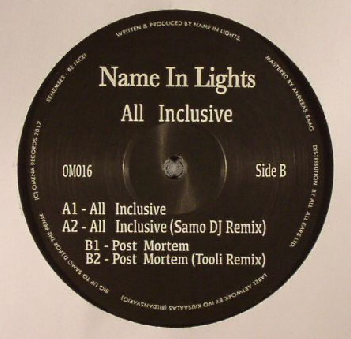 NAME IN LIGHTS - All Inclusive