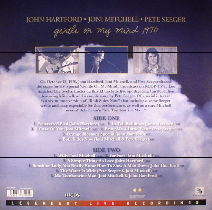 HARTFORD, John/JONI MITCHELL/PETE SEEGER - Gentle On My Mind 1970
