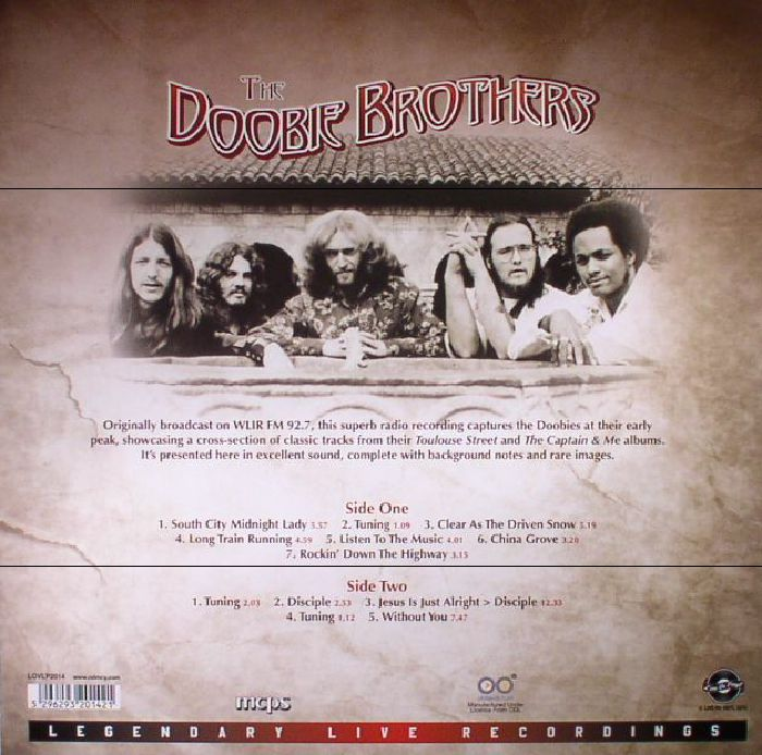 DOOBIE BROTHERS, The - Ultrasonic Studios West Hempstead NY 31 May 1973