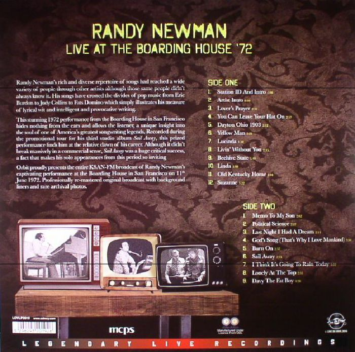NEWMAN, Randy - Live At The Boarding House '72