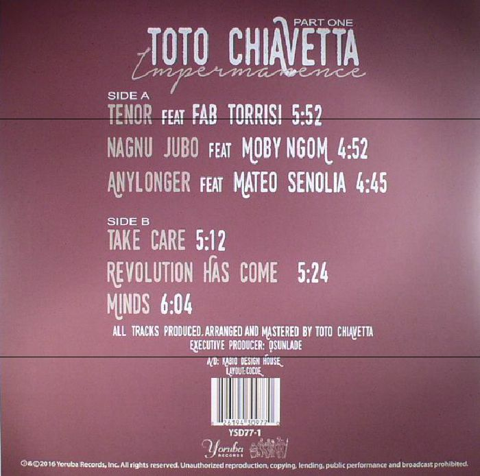 CHIAVETTA, Toto - Impermanence Part 1