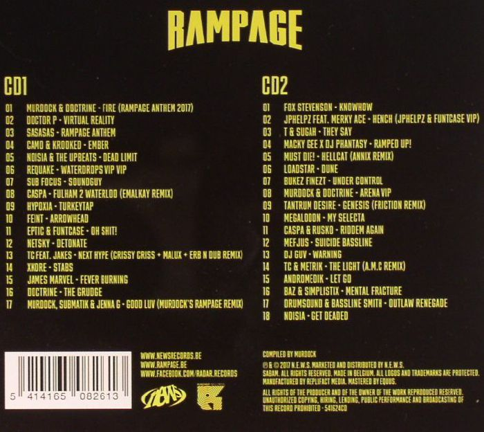 VARIOUS - Rampage: The Biggest Drum &  Bass & Dubstep Party In The World