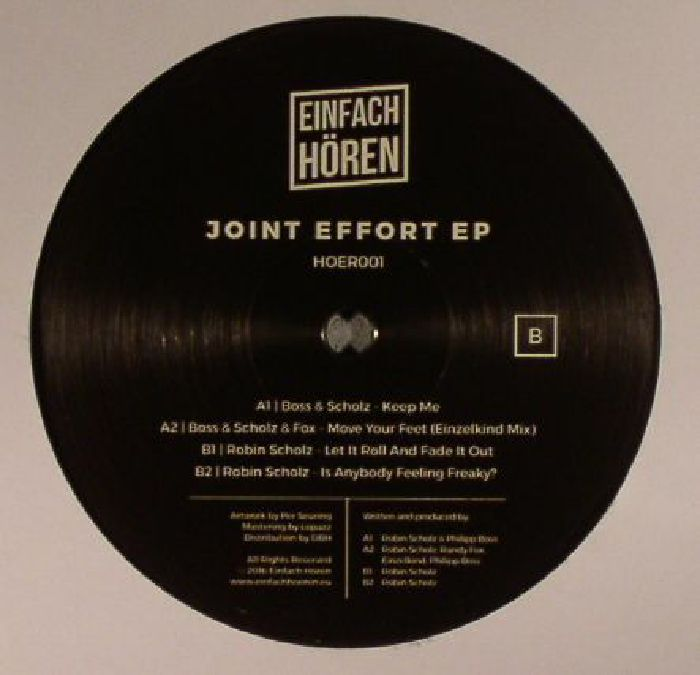 BOSS & SCHOLZ/FOX/ROBIN SCHOLZ - Joint Effort EP