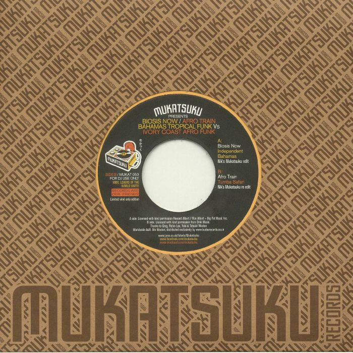 MUKATSUKU presents BIOSIS NOW/AFRO TRAIN - Bahamas Tropical Funk vs Ivory Coast Afro Funk