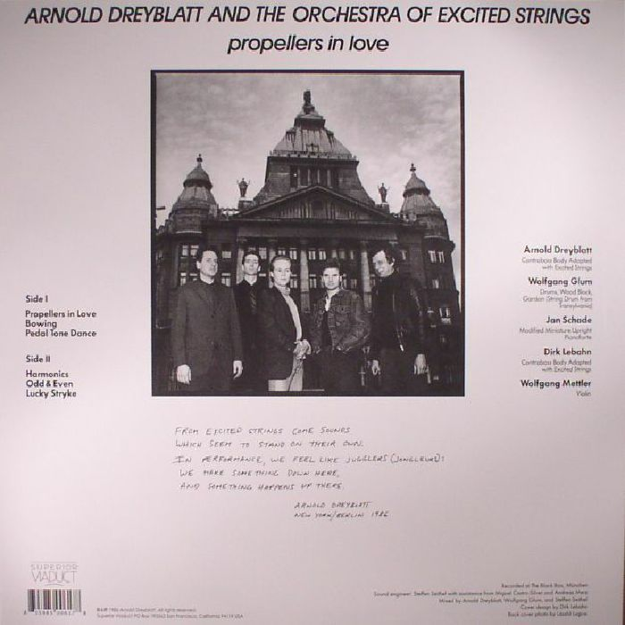DREYBLATT, Arnold/THE ORCHESTRA OF EXCITED STRINGS - Propellers In Love