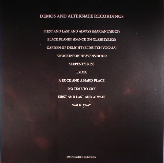 The SISTERS OF MERCY Light & Shadow: Demos & Alternate Recordings ...