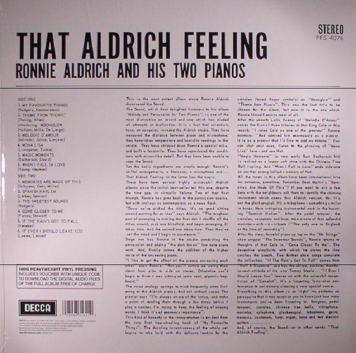 ALDRICH, Ronnie & HIS TWO PIANOS - That Aldrich Feeling