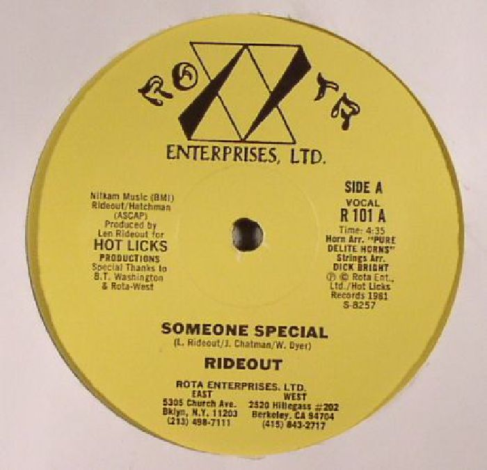 RIDEOUT - Someone Special