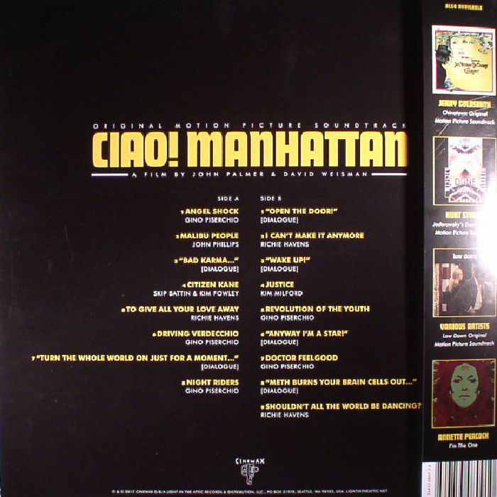 VARIOUS - Ciao! Manhattan (Soundtrack) (Record Store Day 2017)