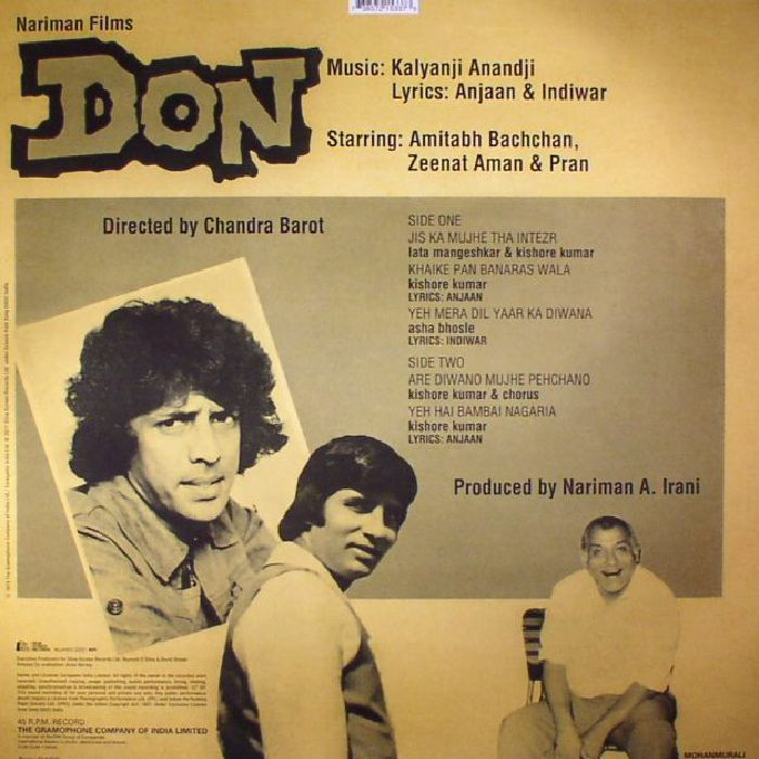 ANANDJI, Kalyanji - Don (Soundtrack)