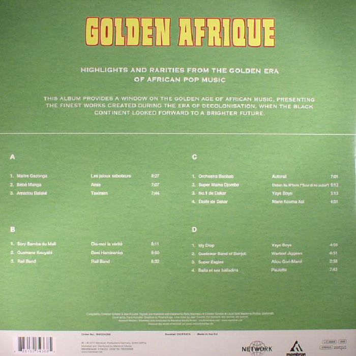 VARIOUS - Golden Afrique: Highlights & Rarities From The Golden Era Of African Pop Music (1971-1983)