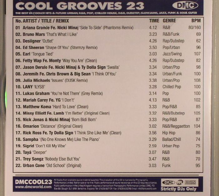 VARIOUS - Cool Grooves 23: The Best In Future Urban R&B Slowjams Funk & Soul Cutz! (Strictly DJ Only)