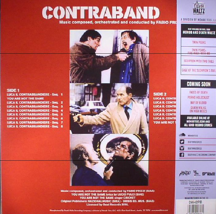 FRIZZI, Fabio - Contraband (Soundtrack)