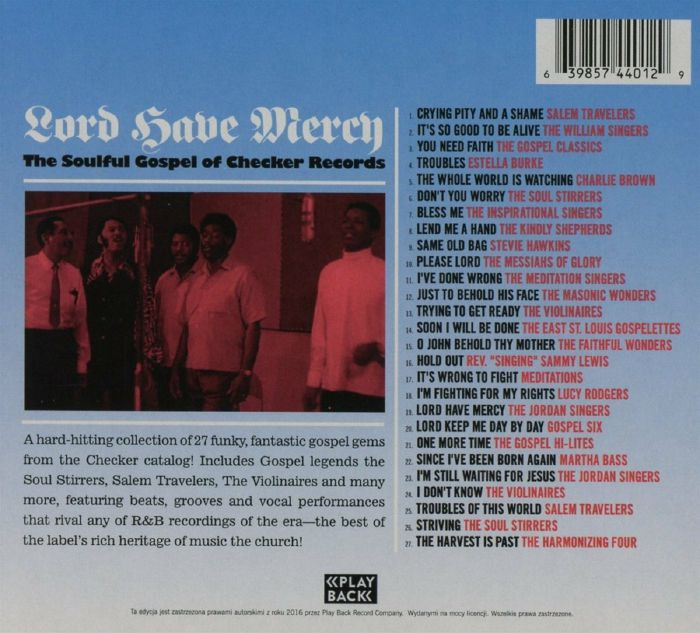 VARIOUS - Lord Have Mercy: The Soulful Gospel Of Checker Records