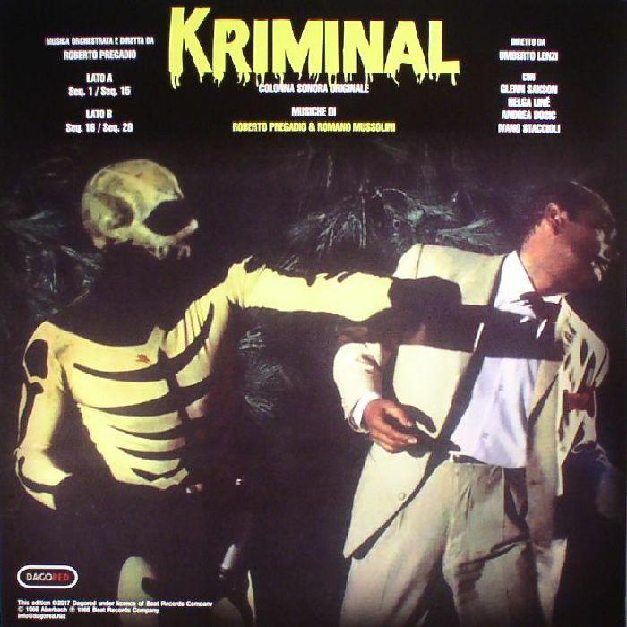 PREGADIO, Roberto/ROMANO MUSSOLINI - Kriminal (Record Store Day 2017)